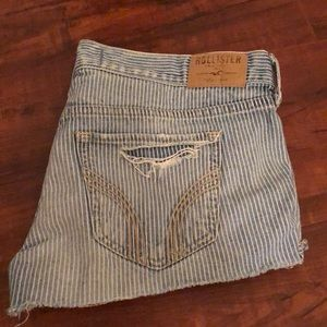 Hollister Low Rise Distressed Jean Shorts